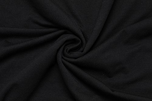Miss Moly Damen Casual Bluse Langarm T-Shirt Tops Schädel Gedruckt Schwarz
