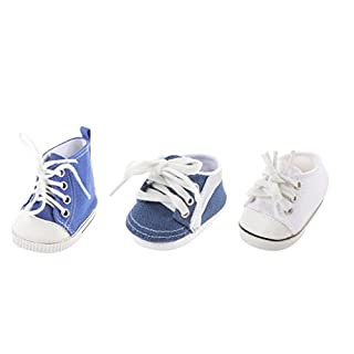 Sharplace 3 Pairs Fashion 18 inch Dolls Dress Up Shoes Plimsolls Trainers Sneakers for American Girl AG Journey Dolls Complete Look