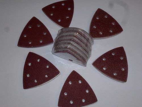 120unidades. Wolfcraft-Lija para lijadora (93mm lijado triangulares para lijadora delta Mix grano 40-60-80-120-180-240