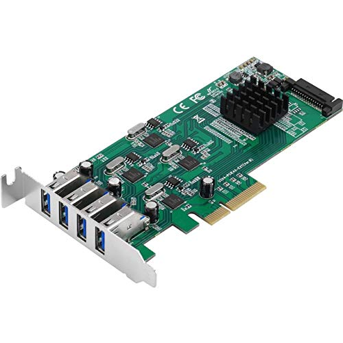 SIIG JU-P40811-S1 SuperSpeed USB 3.0 PCI Express (PCIe Karte) - Quad Core, Vier USB 3.0 Ports mit 5 Gbit/s