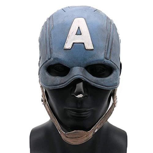 Für Hulk Erwachsene Kostüm - Halloween Hulk Maske for Erwachsene Kinder Halloween Kostüm Party Tuch Party Gesichtsmaske Kapuze for Rollenspiel Kostüm (Farbe : Blau)