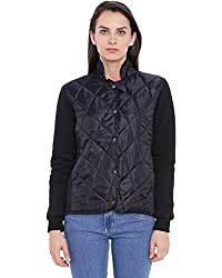 Campus Sutra Women Black Quilted Jacket(AW16_JK_W_P6_BL_M)