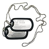 TheDogTagCo Military Dog Tags - Set of 2 Personalised Stainless Steel Nickel Plated