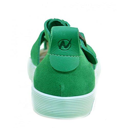Naturino - Naturino Sandaletti Bambino Verdi Pelle Fibbia 2442 Vert