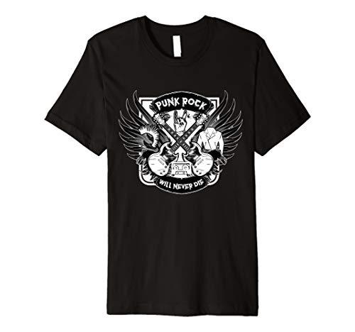 Punk Rock Will Never Die T-Shirt Musik Retro - Retro-punk-rock-shirt