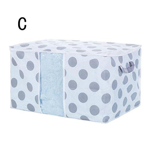 feiXIANG Faltbare lagerung Tasche Decke Pullover Organizer Bekleidung aufbewahrungsbox Box (Freie Größe, Multicolor C)