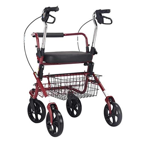 LSLMCS Rollator/Gehhilfe Für Ältere Menschen Der Alte Mann Schiebt Den Einkaufswagen, Um Den Gemüseroller Zu Kaufen,Reha-Trainingsgeräte Bequeme Handgriffe