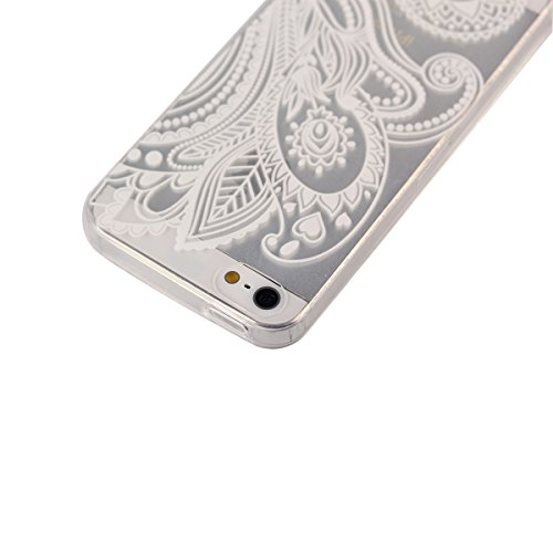Voguecase® Apple iPhone 5 5G 5S (Be Happy 01) Schutzhülle / Case / Cover / Hülle / Ultra Slim Fit TPU Gel Skin + Gratis Universal Eingabestift Lace Morgenruhm