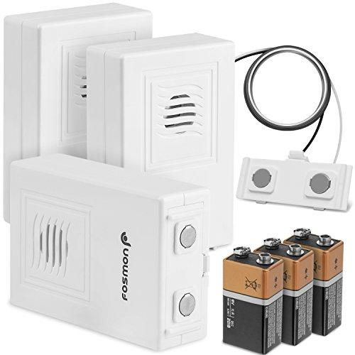 Détecteur d' inondation 3-Pack, Alarme de détection de Fuite d'eau sans Fil Fosmon avec Alarme de Batterie Faible - Blanc
