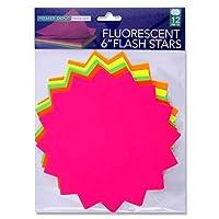 Premier Stationery Premier Depot 6-Inch Flash Star Card (Pack of 12)