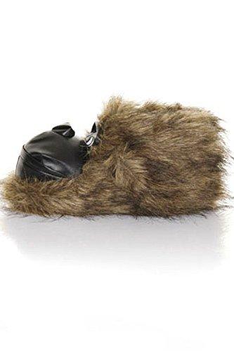 Erwachsene Weich 3D Animal Pantoffeln Bruno Galli zum Reinschlüpfen Bequem Neuheit Schuhwerk Hell Braun Gorilla