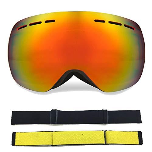 LUCKME Rimless Anti-Fog Ski Glasses, Card Myopic Double-Decker Brillen for Women and Men of The Cycling Running Fishing Skiing Golf Baseball,D