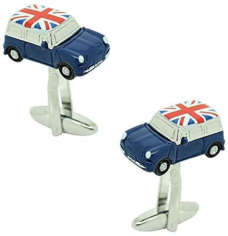 Boutons de Manchette-Mini Cooper Bleu Drapeau UK