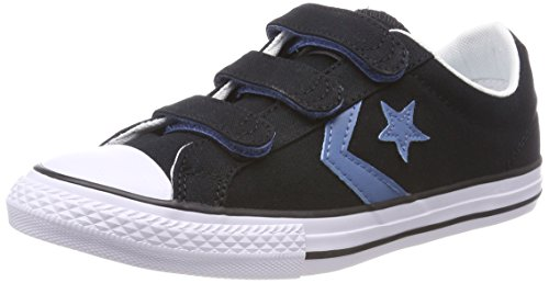 Converse Unisex-Kinder Star Player 3V OX Black/Aegean Storm Sneaker, Schwarz White 001, 35 EU