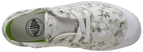 Palladium Pampa Oxford Lp, Sneakers Basses Femme Blanc (White/moonbeam/floral Print)