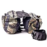 GLQ Dog Tactical Vest Harness Backpack- Outdoor Travel Training Materiale in Nylon di Alta qualità e Resistente -Adatto per Cani di Taglia Grande e Cani di Taglia Media,L