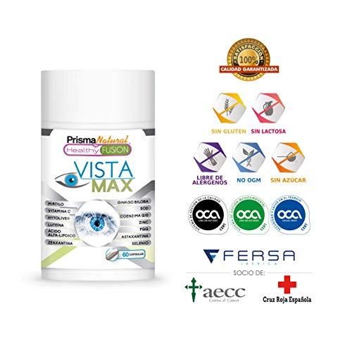 VistaMax | Potente Optimizante y Protector de la Visión | Fortalece el Tejido Ocular | Mejora la Visión Diurna y Nocturna | Tratamiento exclusivo para la salud de los ojos | Formula Exclusiva | 60U