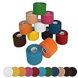 BB Sport 12 Rollen Kinesiologie Tape 5 m x 5,0 cm in verschiedenen Farben, Farbe:bunt