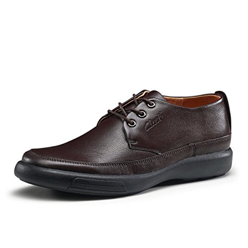 GRRONG Chaussures De Sport Hommes Chaussures Hommes Populaires Pour Aider Cuir Chaussures De Sport brown