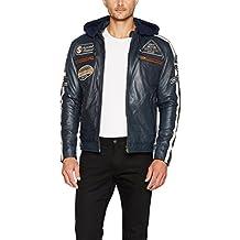 Urban Leather UR de 1358–Cazadora para hombre, color azul marino, grandes: 2x l