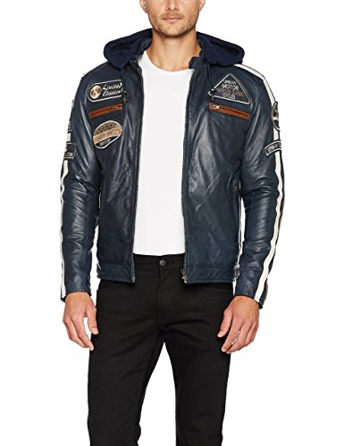 Urban Leather UR-13 Chaqueta de Caballero, Navy Azul, Talla 2XL