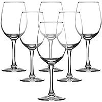 270ML * 6 Bordeaux Trasparente Cristallo Vino Rosso Bicchieri Champagne Set Confezione Regalo Avvolgimento Home Hotel Grande Calice Migliore per Il Compleanno, Anniversario O Regali d Nozze (Lavabile