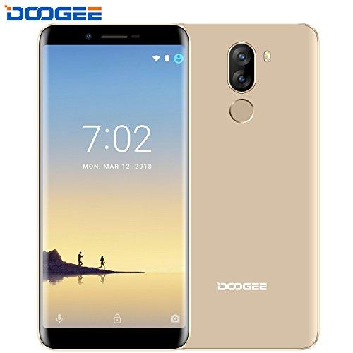 "Smartphone Ohne Vertrag Guenstig, DOOGEE X60L 4G Dual SIM Handy, 5.5 ""Android 7.0 HD IPS + 18:9 Verhältnis mit MT6737V, 2 GB RAM + 16 GB ROM - Dual 13.0MP Rückfahrkamera + 8.0MP Frontkamera - DTouch hinteren Fingerabdruck - 3300mAh - Gold"