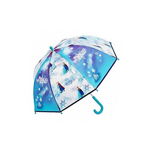Frozen Eiskönigin Disney Kinder Regenschirm Transparent für Mädchen
