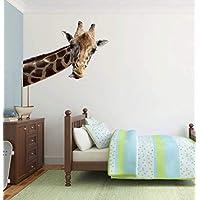 Full Colour Giraffe Novelty Quirky Wall Sticker Decal Kids D?cor