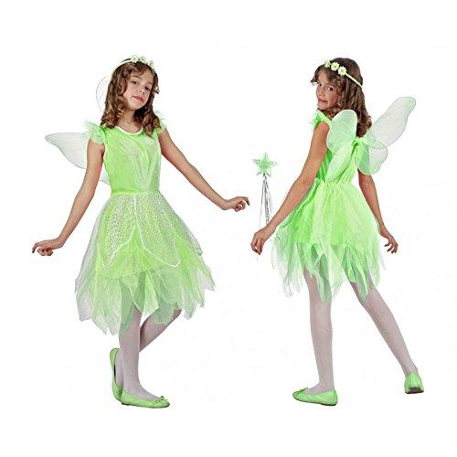 Atosa-10734 Costume-Déguisement Fée 7-9, Fille, 10734, Vert, De De 7 à 9 ans