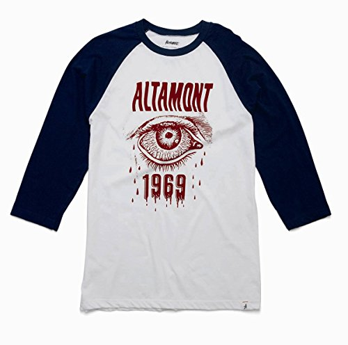 Herren Langarmshirt Altamont Bleeding Eye Raglan T-Shirt Navy/White