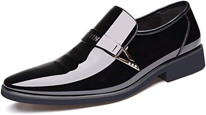 Scarpe da Uomo in Pelle Business Oxford Casual Low-Top Scarpe Formali in Pelle Verniciata con Paillettes metallizzate...   Nuovi prodotti nel 2019    Uomini/Donne Scarpa