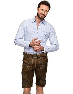 Stockerpoint Lederhose mit Gürtel Aron biberantik Blau