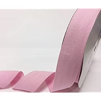 Berties Bows 15mm Candy Pink Cotton Herringbone Tape//Webbing on a 4m Length N.B. this is a cut from a roll, presented on a Berties Bows card