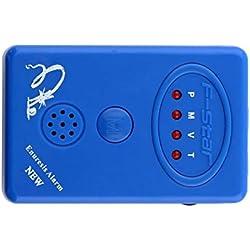 Transer® Erwachsene/Baby Bettnässen Alarm + Sensor, bettnäss Urin Bettnässen Alarm mit Klemme blau