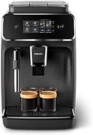 Philips Helautomatiska Espressomaskin Serie 2200 - 2 utsökta kaffevarianter - Med klassisk mjölkskummare - Pek