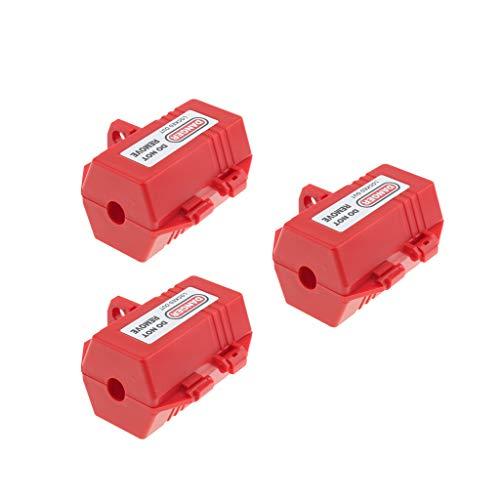 3x Steckerschloss Abschließbare Stromstecker Schutzbox für 7mm Vorhängeschlösser (Steckersafe)