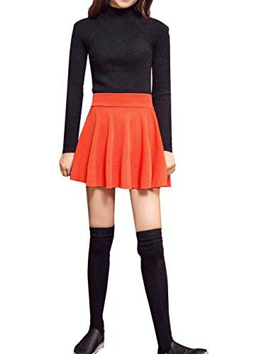 Wink Gal - Jupe - Plissée - Femme Orange - Orange