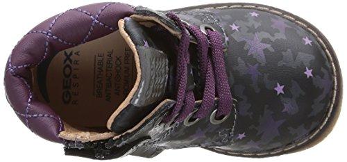 Geox B Glimmer, Boots bébé fille Gris (Dk Grey)
