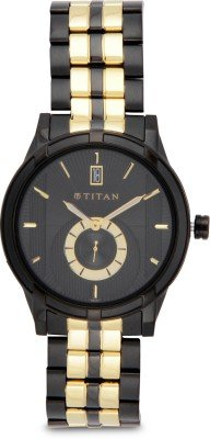 41zdwh0fBwL - Titan 1656KM01 Multi Colored Mens watch