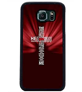 PrintDhaba Typographic Cross D-3057 Back Case Cover for SAMSUNG GALAXY S6 EDGE (Multi-Coloured)