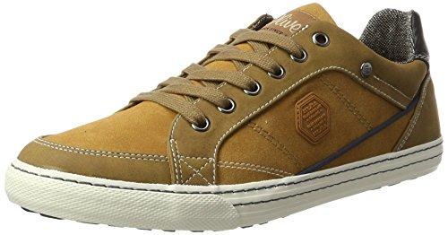s.Oliver Herren 13603 Sneaker, Braun (Cognac), 43 EU