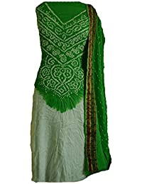 Neck Design Bnadhani Dress Material(Unstitched)