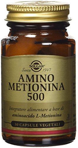 Solgar Amino Metionina 500 Integratore Alimentare - 30 Capsule Vegetali