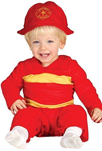 Baby Jungen Mädchen rot Feuerwehrmann Stelle Uniform Verkleidung -