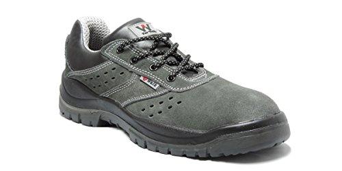 4walk Nairobi S1+P SRC - Zapatos de Seguridad Ligeros - Azul - Talla 44 WYjPiUJr