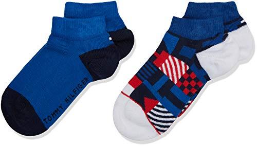 87ae69006 Tommy Hilfiger TH Boys Squares Sneaker 2p, Calcetines para Niños, Azul ( Tommy Original 085), única (Talla del Fabricante: 035)(Pack de 2)