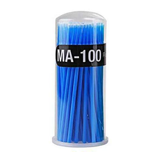 Pinceaux de maquillage Cils individuels Suppression des outils Swab Micro brosses Outils d'extension de cils jetables à la charpie 100Pcs / Pack