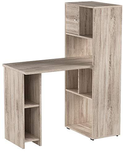 VICCO Schreibtisch Regalkombination 144cm Höhe Arbeitstisch Regal Ordner Akten Büro PC-Tisch - perfekt für das Arbeitszimmer (Eiche Sonoma)