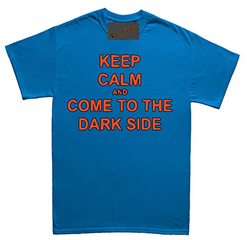 6a990541781b Renowned Keep calm and come to the dark side Damen T Shirt Blau ...